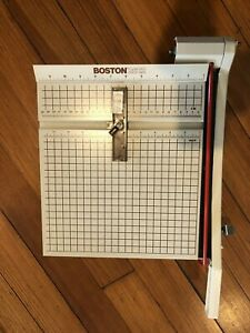 Boston 2612 Paper Cutter 12 Trimmer Heavy Duty Guillotine Made In Usa W Box