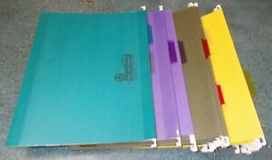 25 Letter Size Hanging File Folders W tabs Asst Colors Brands