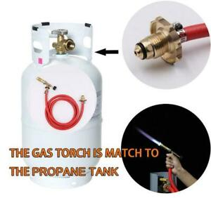 Gas Ignition Plumbing Turbo Torch With Hose Solder Propane Welding Kit