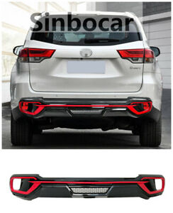 Red Rear Bumper Protector Sill Trunk Cover Guard For Toyota Highlander 2015 2020