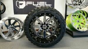 Fuel Maverick 24x14 Two Piece Mounted On 37 13 50r24 Mt Tires Wheel Tire Package