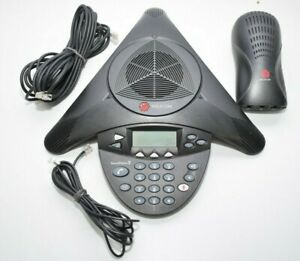Polycom Soundstation 2 2200 16200 601 Wireless Conference Phone With Wall Module