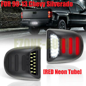 Oe Fit Led License Plate Light W Red Drl For Silverado Gmc Sierra 1500 2500 3500