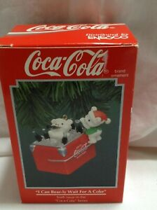 1994 Coca Cola Enesco  I Can Bear-ly Wait For A Coke Ornament NEW 6th in series