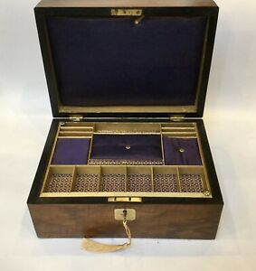 Antique Sewing Box Rosewood Victorian Sewing Box