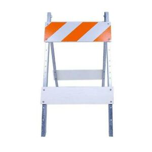 Three D Traffic Works 8 In Plywood Metal Type I Barricade Galvanized Steel
