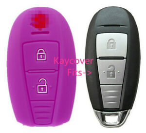 Purple Silicone Car Smart Key Cover Case For Suzuki Swift Kizashi