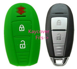 Green Silicone Car Smart Key Cover Case For Suzuki Swift Kizashi