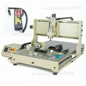 Cnc 6090 Cnc Usb Wood Router4 Axis 1500w Spindle Metal Milling Machine remote