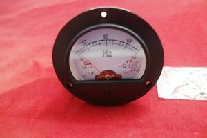 1pc Analogue Frequency Panel Meter 55 65hz 110v Round Dia 90mm 65t5 Plastic