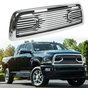 Big Horn Chrome Packaged Grille Replacement Shell For 10 18 Dodge Ram 2500 3500