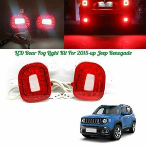 Rear Bumper Reflector Tail Light For For 2015 18 Jeep Renegade Brake Fog Lamp