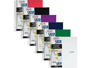Five Star 5 subject Notebook 8 5 X 11 College Ruled 200 Sheets 400895