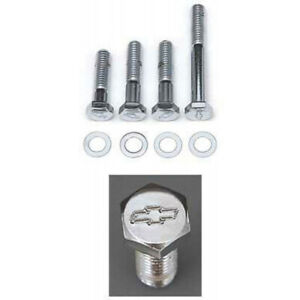 Chevelle Water Pump Bolt Set Small Block Chrome For Cars With Short Water