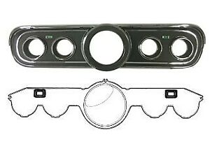 Mustang Instrument Bezel Lens Kit Black 1966