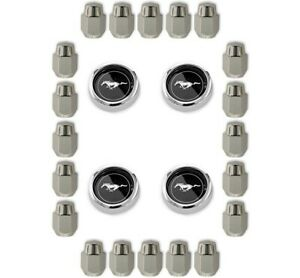 Mustang Magnum 500 Wheel Center Cap Set Lug Nut Kit 1965 1973