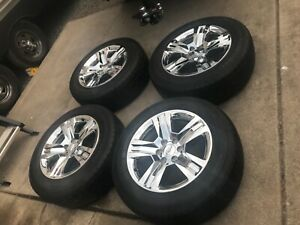 20 Chevy Silverado Tahoe Ltz 2018 Oem Chrome Wheels Rims Tires 2017 2019