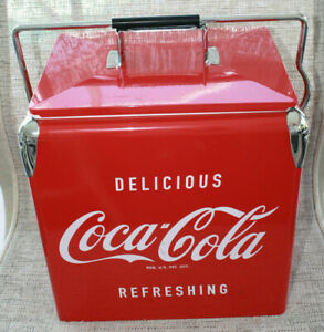 NEW Coca Cola Ice Box Cooler Chest Collectible 12 x 9 x 11.5