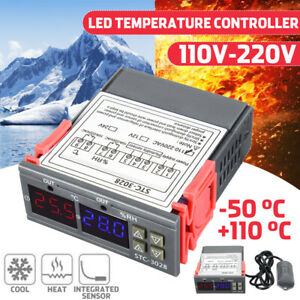 110v 220v Digital Temperature Controller Led Display Cooling Heating