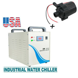 Cw 3000 Industrial Water Chiller For Cnc Laser Engraver Engraving Machine pump