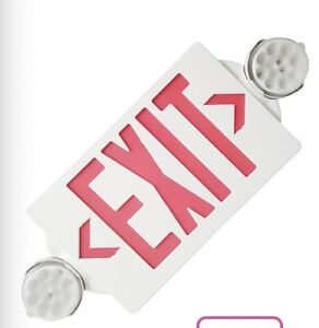 Led Exit Sign Emergency Light hi Output Red green Compact Combo Ul Listed