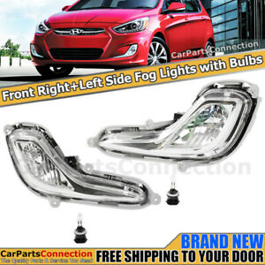 Passenger Driver Fog Lamps Lights For Hyundai Accent 2012 2017 Sedan Hatchback