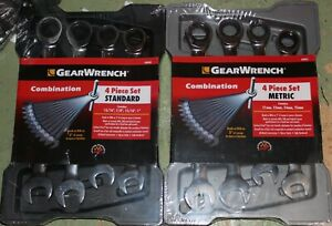 Gearwrench 8 Piece Large 4 Metric Sae Inch Ratcheting Wrench Set 21mm 25mm 1 Xl