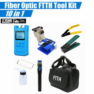 18pcs Fiber Optic Ftth Tool Kit With Fc 6s Cleaver Optical Power Meter Finder