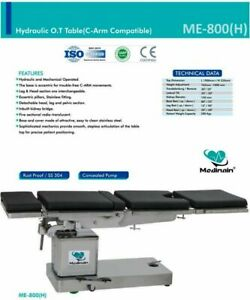 Operation Theater Table Hydraulic And Mechanical C arm Compatible Hydraulic ft