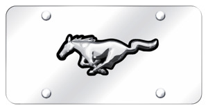 Ford Mustang Horse Mirror Polished Chrome License Plate Official Licensed