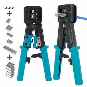 Itbebe Rj45 Crimping Tool Made Of Hardened Steel With Wire Cutter Stripping Blad