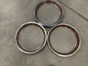 3 15 Red Stripe Beauty Trim Rings 92 93 94 95 96 Ford Bronco F150 F250