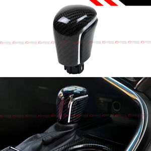 For 18 2020 Toyota Camry Real Carbon Fiber Automatic At Shift Knob Silver Strip