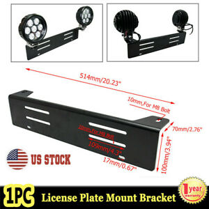 Bull Bar Front Bumper License Plate Mount Bracket Led Work Light Bar Hid Holder