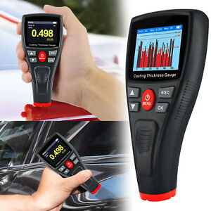 Thickness Meter Automatic Screen Rotation Automotive Tool Paint Coating Tester