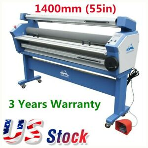 Usa 55 Full auto Cold Laminator Wide Format Heat Assisted Laminating Machine