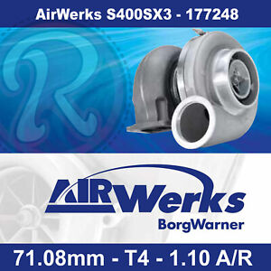 Borg Warner Airwerks S400sx3 Turbo 71 08mm T4 Twin Scroll 1 10 A R 500 1050hp