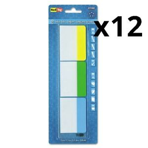 Write on Index Tabs 1 5 cut Tabs Assorted Colors 2 Wide 30 pack Pack Of 12