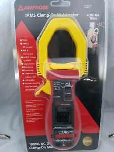 Amprobe Acdc 100 Trms Digital Clamp Meter 800a 40 Mohms