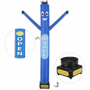 10 Ft Air Inflatable Puppet Dancer Tube Man W blower Removable Slogans Blue