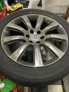 22 Inch Infiniti Qx80 Chrome Oem Wheels And Tires 275 50 22