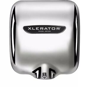 Xlerator Eco Hand Dryer W noise Reduction Nozzle Xl c eco Chrome Plated Cover