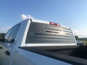 Universal Rear Window Tailgate American Flag Decal Wrap Vinyl Sticker For Truck