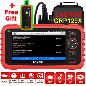 Launch X431 Crp129x Obd2 Diagnostic Scanner Code Reader Epb Sas Oil Tpms Reset