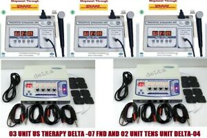 New Combo Portable Electrotherapy Machine 1 Mhz Ultrasound Machine 05 Units