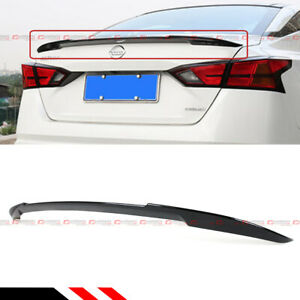 For 2019 2021 Nissan Altima Jdm V Style Painted Glossy Black Trunk Lid Spoiler
