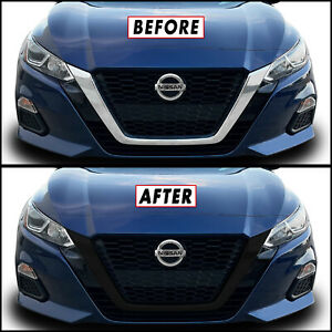 Chrome Delete Blackout Overlay For 2019 20 Nissan Altima Front Grille Trim