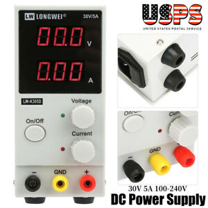 30v 5a 100 240v Output Adjustable Switch Digital Dc Power Supply W Led Display