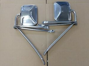 Chevrolet Gmc Truck West Coast Stainless Steel Towing Mirrors 3 Mount Brackets