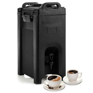 Insulated Beverage Server dispenser 5 Gallon Hot And Cold Drinks W handles Black